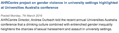 UNSW AHRC gender violence
