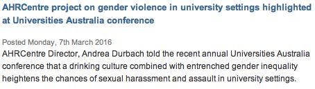 UNSW AHRC gender violence