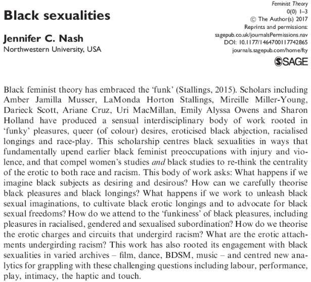 Black Sexualities